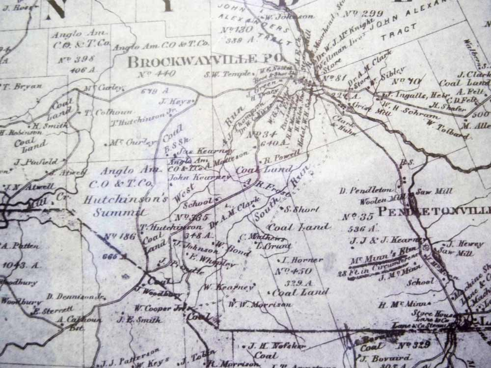 Map of Snyder Township 1866